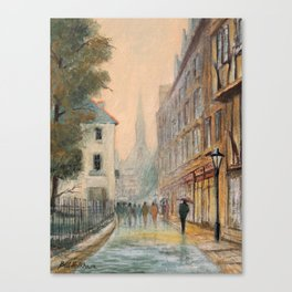 Rainy Day In Oxford England Canvas Print