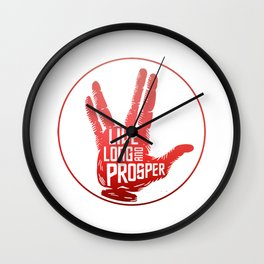 Live Long and Prosper Spock Wall Clock