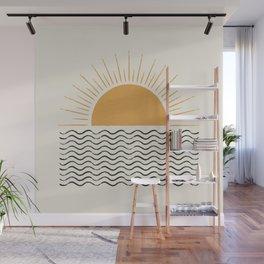 Sunrise Ocean -  Mid Century Modern Style Wall Mural