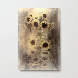 Rustic Sunflowers Metal Print