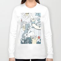 milk Long Sleeve T-shirts featuring Milk by Anna Savva