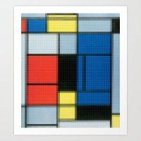 Lego: Piet Mondrian no.2 Art Print