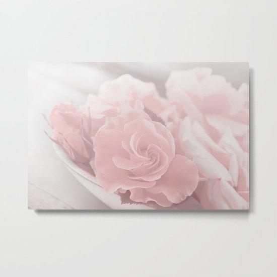 Lovely Rose in soft pink pastel tone Metal Print