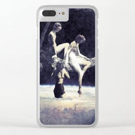 don't hesitate, it's nice up here Clear iPhone Case