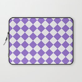 Diamonds - White and Dark Pastel Purple Laptop Sleeve