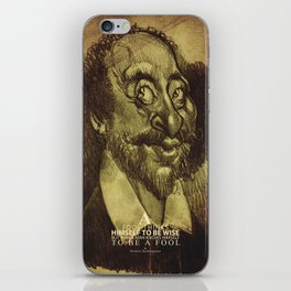 William Shakespeare-wise and fool iPhone Skin