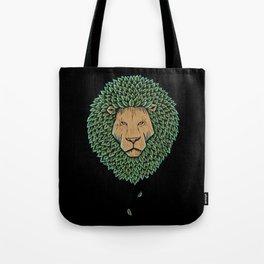 Wood Lion Tote Bag