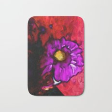 Lavender Flower with some Pink and Red Bath Mat