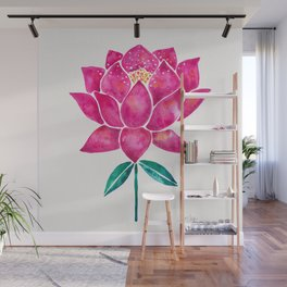 Sacred Lotus – Magenta Blossom Wall Mural