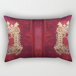 Ink Stained Crimson Book Rectangular Pillow