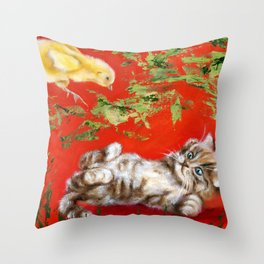 Born to be wild! Throw Pillow