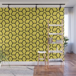 Tessellation Line Pattern 12 Abstract Flower Wall Mural