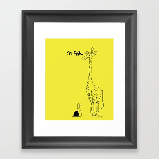 High Giraffe Framed Art Print