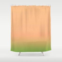 Melon | Pastel orange and green gradient Shower Curtain