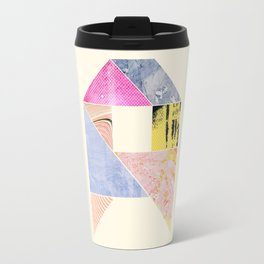Collaged Tangram Alphabet - A Travel Mug
