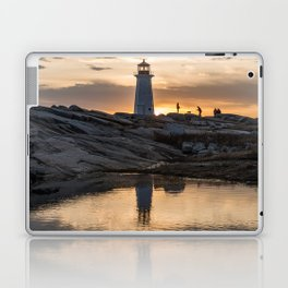 Peggys Point sunset walk Laptop & iPad Skin