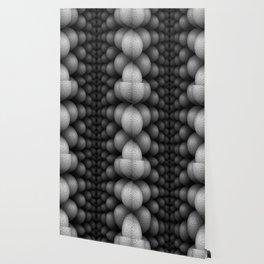 Black and White Bilateral Wallpaper