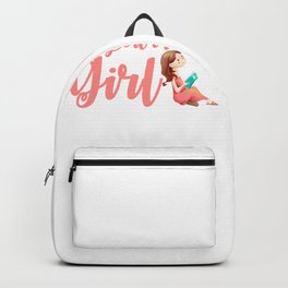 Fun Book Geek Girl's T-shirt Girl Power Literacy Tee Backpack