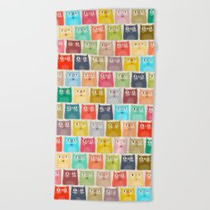 summer cats Beach Towel