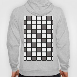 BLACK GREY AND WHITE RECTANGLE TILE  {BASIcs JHD} Hoody