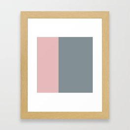 gray, grey pink, minimalistic, contemporary, elegant, chic, stripes Framed Art Print