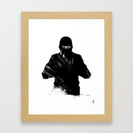 The Ninja Framed Art Print