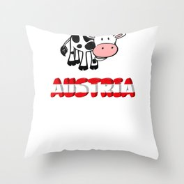 Austria shirt skiing Alps Tyrol Throw Pillow