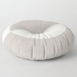 Black And White Overlay Floor Pillow
