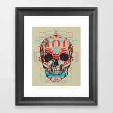 Skull Native Framed Art Print