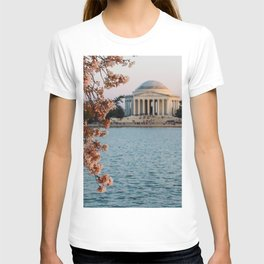 Cherry Blossoms at the Jefferson T-shirt