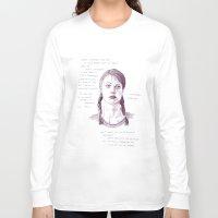 doors Long Sleeve T-shirts featuring Sliding Doors by Jennifer Quinn