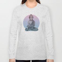 Buddha with cat1 Long Sleeve T-shirt
