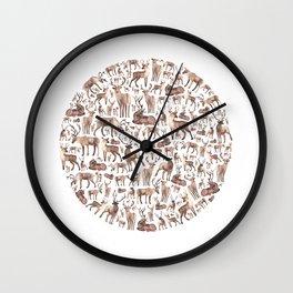 Deer Circle Wall Clock