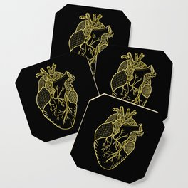 Designer Heart Gold Coaster