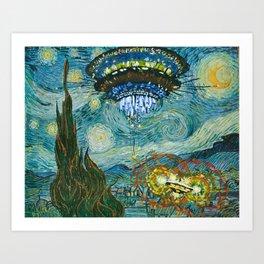 Starry Encounters Art Print