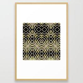 Tribal Gold Glam Framed Art Print