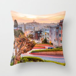 San Francisco 01 - USA Throw Pillow