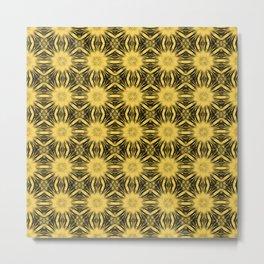 Primrose Yellow Floral Abstract Metal Print