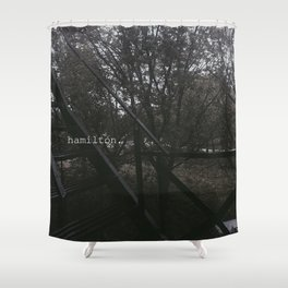 hamilton. Shower Curtain