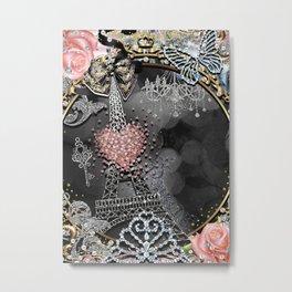 Paris Bling Metal Print