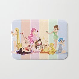 Sailor Moon Pinup - Cupcakes Bath Mat