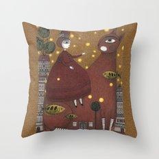 Just Around the Corner Throw Pillow