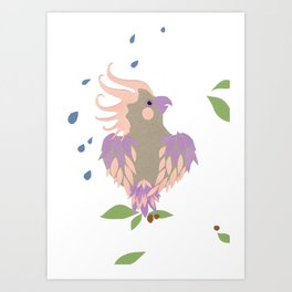 rainy day galah Art Print