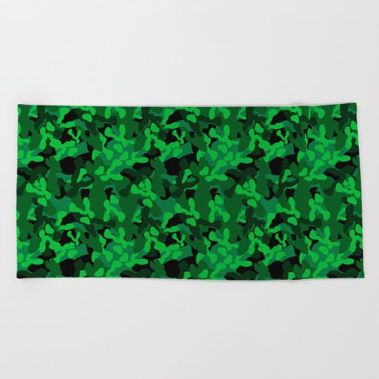 Camouflage (Green) Beach Towel
