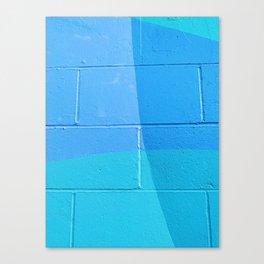 Turquoise Brick Canvas Print