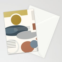 Mid Century Modern Geometric 4 #society6 #decor #buyart #artprint Stationery Cards
