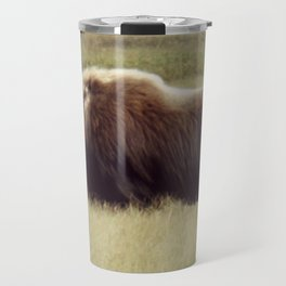 Muskox on the move \ wildlife Travel Mug