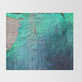 Green Entropy I Throw Blanket