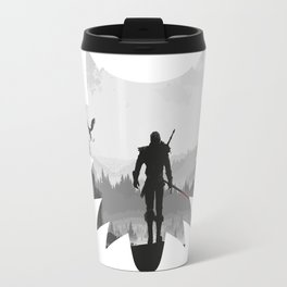 The white wolf Travel Mug