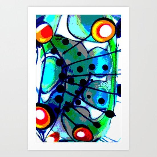 Abstract Explotion Art Print